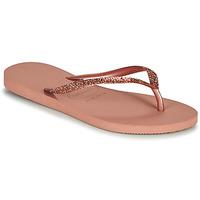 Cipők Női Lábujjközös papucsok Havaianas SLIM GLITTER II Rózsaszín