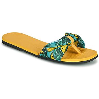 Cipők Női Lábujjközös papucsok Havaianas YOU SAINT TROPEZ Citromsárga / Arany