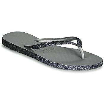 Cipők Női Lábujjközös papucsok Havaianas SLIM SPARKLE II Szürke