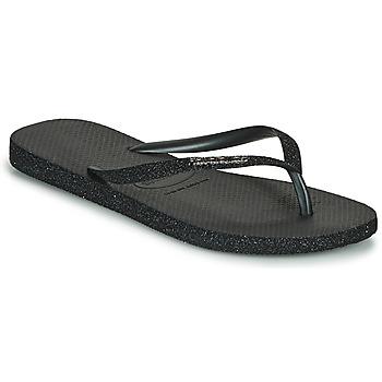 Cipők Női Lábujjközös papucsok Havaianas SLIM SPARKLE II Fekete