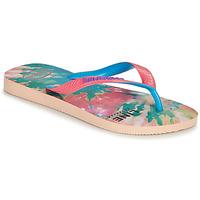 Cipők Női Lábujjközös papucsok Havaianas TOP FASHION Rózsaszín