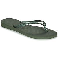 Cipők Női Lábujjközös papucsok Havaianas SLIM Zöld