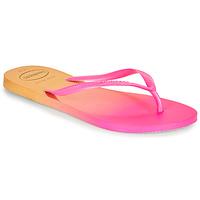 Cipők Női Lábujjközös papucsok Havaianas SLIM GRADIENT Rózsaszín / Citromsárga