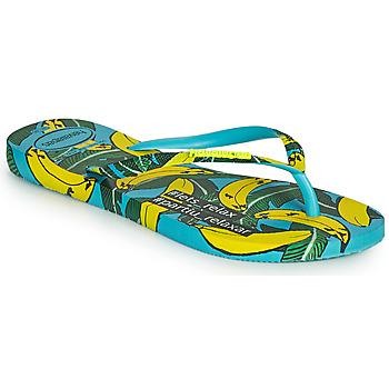 Cipők Női Lábujjközös papucsok Havaianas SLIM SUMMER Kék