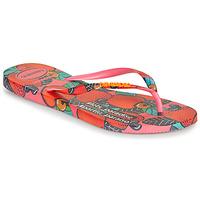 Cipők Női Lábujjközös papucsok Havaianas SLIM SUMMER Rózsaszín / Piros