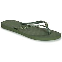 Cipők Női Lábujjközös papucsok Havaianas SLIM GLITTER II Zöld