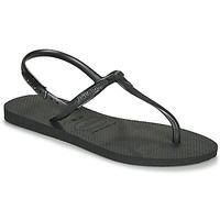 Cipők Női Szandálok / Saruk Havaianas TWIST Fekete