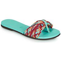 Cipők Női Lábujjközös papucsok Havaianas YOU ST TROPEZ MESH Kék