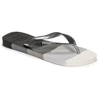 Cipők Lábujjközös papucsok Havaianas TOP LOGOMANIA MULTICOLOR Fekete