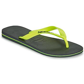 Cipők Férfi Lábujjközös papucsok Havaianas BRASIL LOGO Szürke
