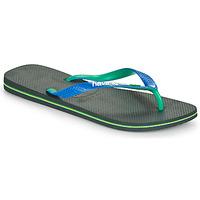 Cipők Férfi Lábujjközös papucsok Havaianas BRASIL MIX Fekete  / Kék