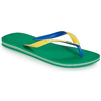 Cipők Férfi Lábujjközös papucsok Havaianas BRASIL MIX Zöld