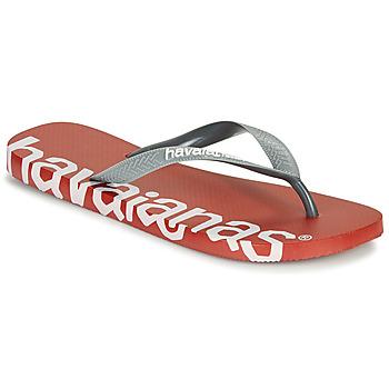 Cipők Lábujjközös papucsok Havaianas TOP LOGOMANIA HIGHTECH Piros