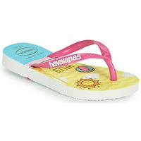 Cipők Lány Lábujjközös papucsok Havaianas KIDS SLIM HELLO KITTY Fehér
