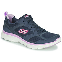 Cipők Női Rövid szárú edzőcipők Skechers FLEX APPEAL 4.0 Sötétkék / Rózsaszín