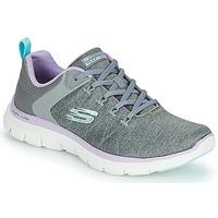 Cipők Női Rövid szárú edzőcipők Skechers FLEX APPEAL 4.0 Szürke / Rózsaszín