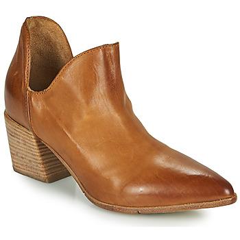 Cipők Női Bokacsizmák Moma OSTUMI Barna