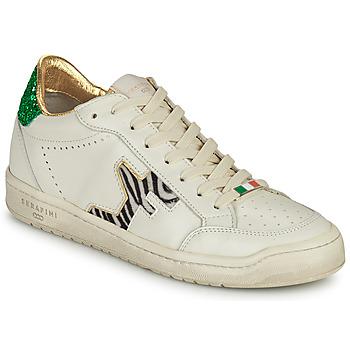 Cipők Női Rövid szárú edzőcipők Serafini SAN DIEGO Fehér / Zöld