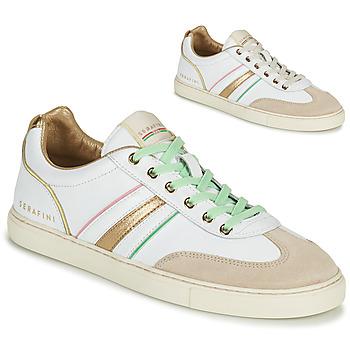 Cipők Női Rövid szárú edzőcipők Serafini COURT Fehér / Arany