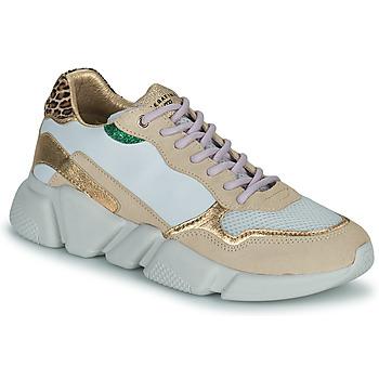Cipők Női Rövid szárú edzőcipők Serafini OREGON Fehér / Arany