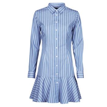 Ruhák Női Rövid ruhák Lauren Ralph Lauren TRIELLA Kék / Fehér