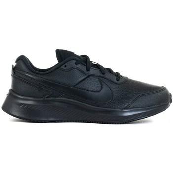 Cipők Gyerek Rövid szárú edzőcipők Nike Varsity Leather GS Fekete