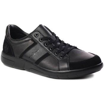 Cipők Férfi Rövid szárú edzőcipők Rieker B271200 Fekete