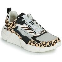 Cipők Női Rövid szárú edzőcipők Skechers BLOCK - WEST Bézs