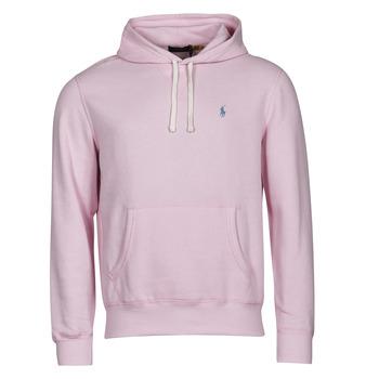Ruhák Férfi Pulóverek Polo Ralph Lauren SWEAT A CAPUCHE MOLTONE EN COTON LOGO PONY PLAYER Rózsaszín