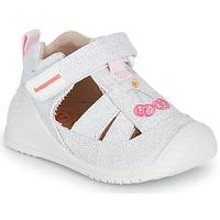 Cipők Lány Szandálok / Saruk Biomecanics 212213 Ezüst / Fehér