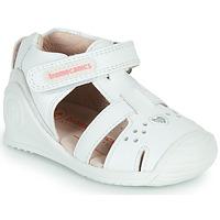 Cipők Lány Szandálok / Saruk Biomecanics 212104 Fehér / Ezüst