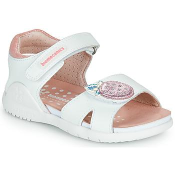 Cipők Lány Szandálok / Saruk Biomecanics 212163 Fehér / Rózsaszín