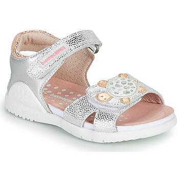Cipők Lány Szandálok / Saruk Biomecanics 212172 Ezüst