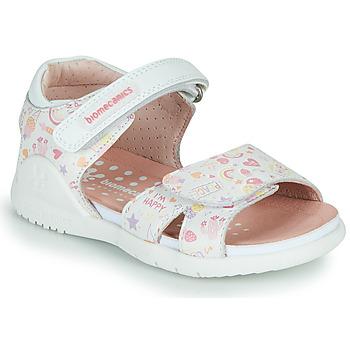 Cipők Lány Szandálok / Saruk Biomecanics 212165 Fehér / Többszínű