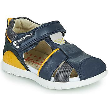 Cipők Fiú Szandálok / Saruk Biomecanics 212187 Tengerész / Citromsárga