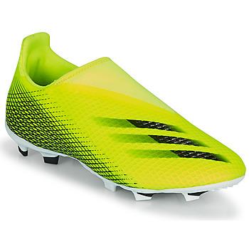 Cipők Gyerek Foci adidas Performance X GHOSTED.3 LL FG J Citromsárga / Fekete