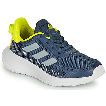 Cipők Fiú Rövid szárú edzőcipők adidas Performance TENSAUR RUN K Kék / Citromsárga