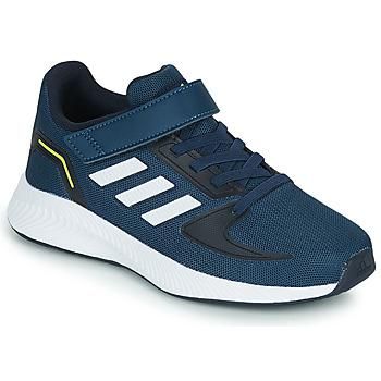 Cipők Gyerek Rövid szárú edzőcipők adidas Performance RUNFALCON 2.0 C Tengerész / Fehér