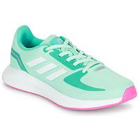 Cipők Lány Rövid szárú edzőcipők adidas Performance RUNFALCON 2.0 K Türkiz / Rózsaszín