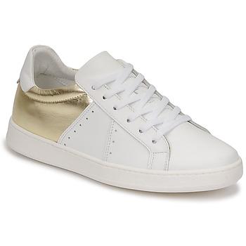 Cipők Női Rövid szárú edzőcipők Myma PIGGE Fehér / Arany