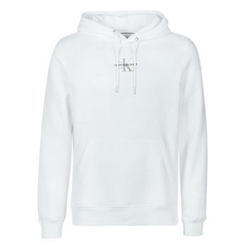 Ruhák Férfi Pulóverek Calvin Klein Jeans NEW ICONIC ESSENTIAL HOODIE Fehér