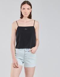 Ruhák Női Blúzok Calvin Klein Jeans MONOGRAM CAMI TOP Fekete