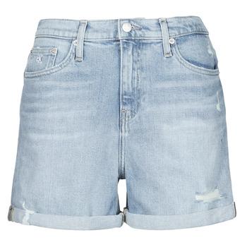 Ruhák Női Rövidnadrágok Calvin Klein Jeans MOM SHORT Kék / Tiszta