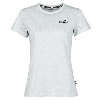 Ruhák Női Rövid ujjú pólók Puma ESS LOGO TEE Szürke / Tarka