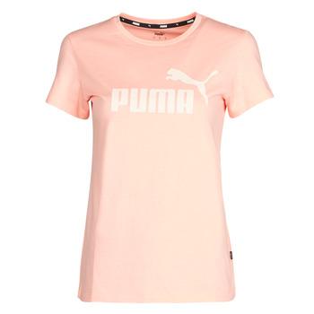 Ruhák Női Rövid ujjú pólók Puma ESS Logo Tee (s) Sárgabarack