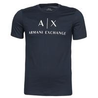 Ruhák Férfi Rövid ujjú pólók Armani Exchange 8NZTCJ-Z8H4Z Tengerész