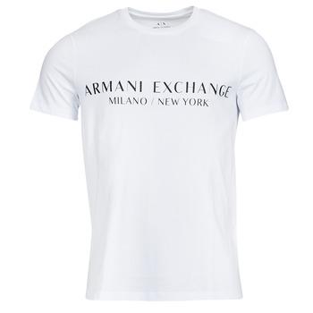 Ruhák Férfi Rövid ujjú pólók Armani Exchange 8NZT72-Z8H4Z Fehér