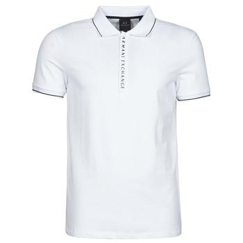 Ruhák Férfi Rövid ujjú galléros pólók Armani Exchange 8NZF71-ZJH2Z Fehér