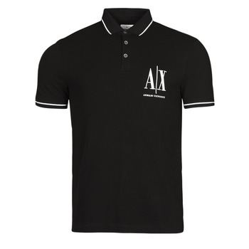 Ruhák Férfi Rövid ujjú galléros pólók Armani Exchange 8NZFPA-Z8M5Z Fekete