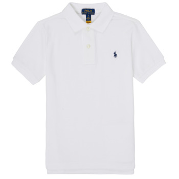 Ruhák Fiú Rövid ujjú galléros pólók Polo Ralph Lauren TUSSA Fehér